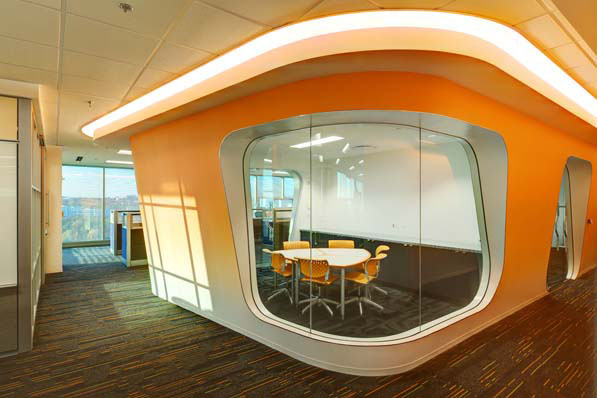 Conference Rooms In AutoTraders New Offices Are Outfitted With Car Window Shaped Portholes That Promote Daylighting Photos Nigel Marson